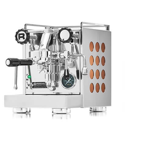 ROCKET Appartamento Espressomaskine - Kobber Dots - inkl. 2 KG Specialty Espresso