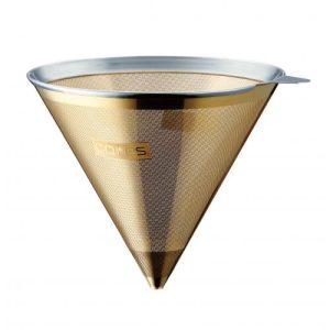 CORES Gold Genanvendeligt Cone kaffefilter med låg & stander.