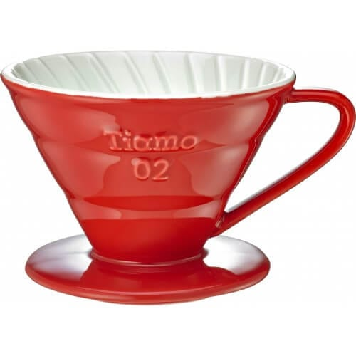 Tiamo Coffee Dripper - Rød - 2-4 kopper