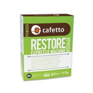 Cafetto restore machine descaler - afkalker / afkalning 4 x 25 gr.