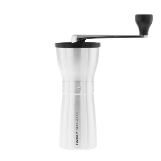Hario Ceramic Coffee Mill Mini-Slim PRO Sølv - Keramisk Håndkværn