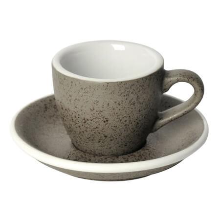 Loveramics Egg - Espressokop med underkop 80 ml Granitgrå