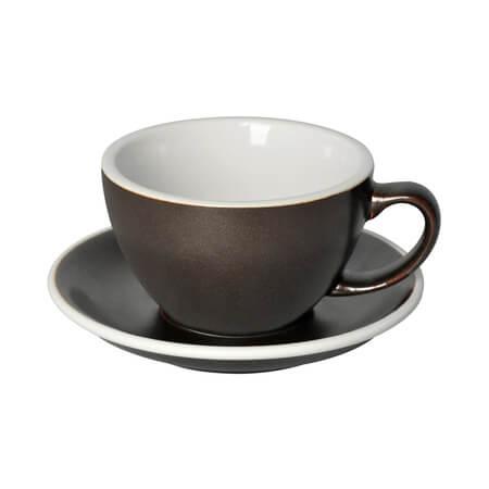 Loveramics Egg - Cafe Latte 300 ml Kop og underkop i gunpowder farve