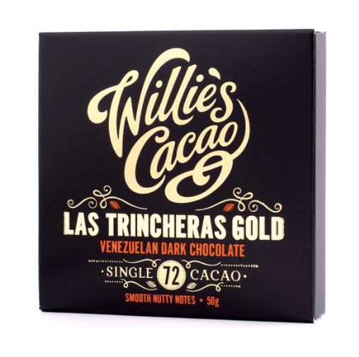 Willie's Cacao - Las Trincheras Gold 72% - Mørk Chokolade fra Venezuela 50g