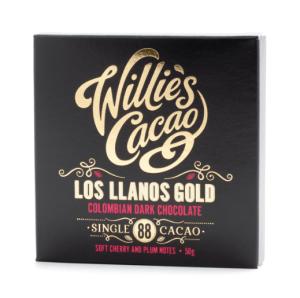 Willie's Cacao - Los LLanos Gold 88% - Mørk Chokolade fra Columbia 50g