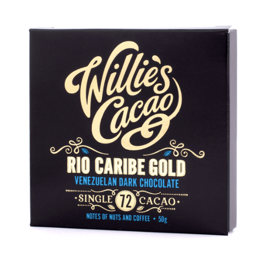 Willie's Cacao - Rio Caribe Gold 72% - Mørk Single Estate Chokolade fra Venezuela 50g