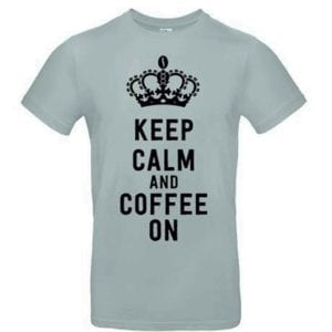 Joe Frex T-Shirt Sort m/Keep Calm and Coffee On tryk