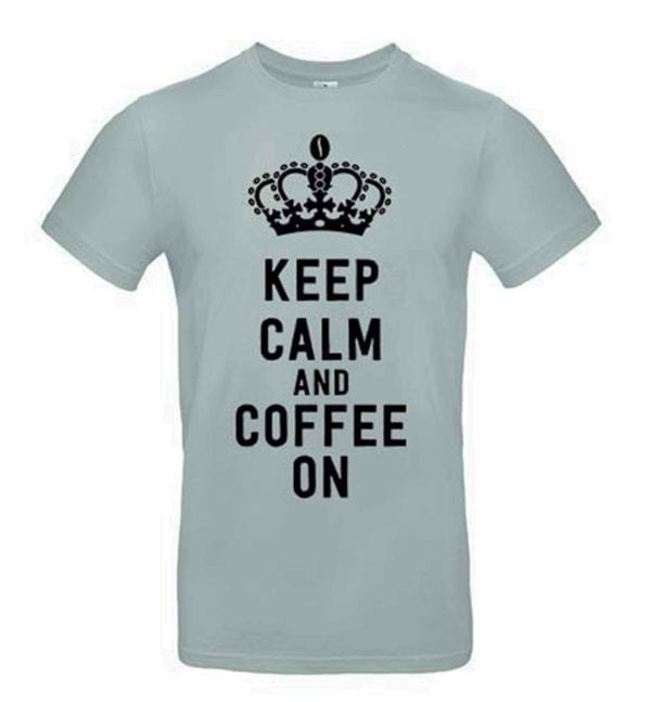 Joe Frex T-Shirt Sort m/Keep Calm and Coffee On tryk