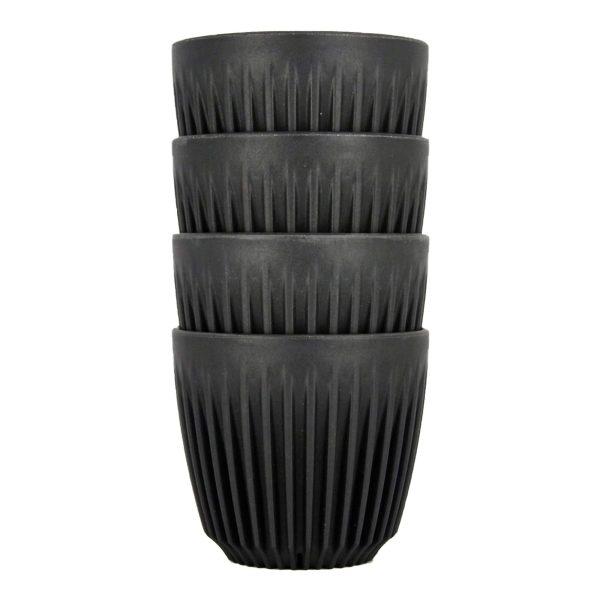 HuskeeCup Kop Mørkegrå 175 ML (4 Stk) - Produceret af kaffebær
