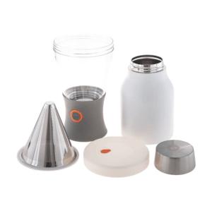 Asobu - Cold Brew brygger m/termo i rustfrit Stål Hvid