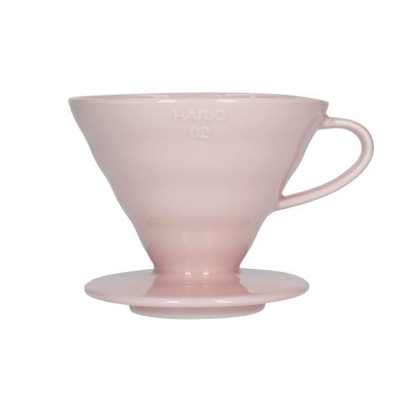 Hario V60-02 Ceramic Coffee Dripper i Pink