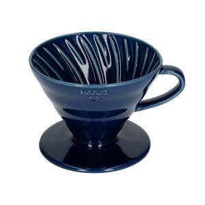 Hario V60-02 Keramisk Coffee Dripper Indigo Blue