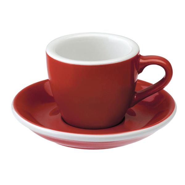 Loveramics Egg - Espresso 80 ml Kop og underkop Rød
