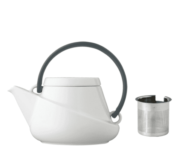 Hvid Kinto Brim Tepotte med hældetud og infuser 0,45 L