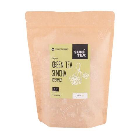 SUKÍ - Green Tea Sencha Te - Pyramider 50 stk.