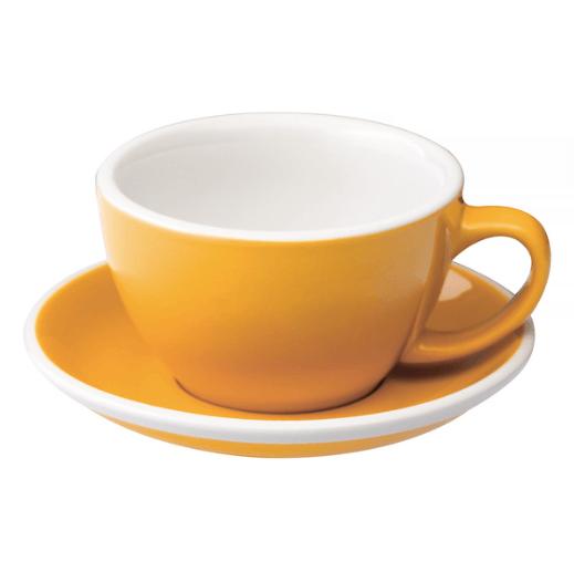 Loveramics Egg - Cafe Latte 300 ml Kop og underkop Gul