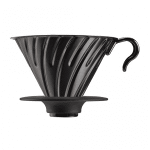 Hario V60-02 Metal dripper med silikone base - Sort