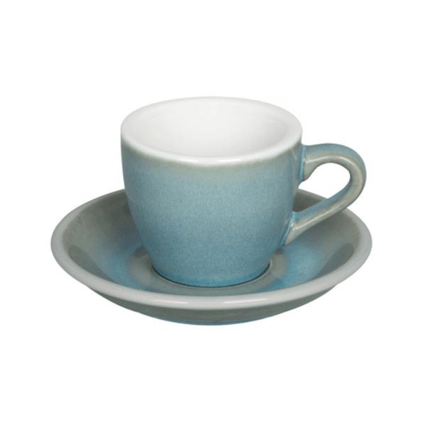Loveramics Egg - Espresso 80 ml Kop og underkop Ice Blue
