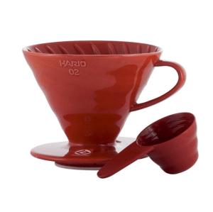 Hario V60-02 Keramisk Coffee Dripper Rød