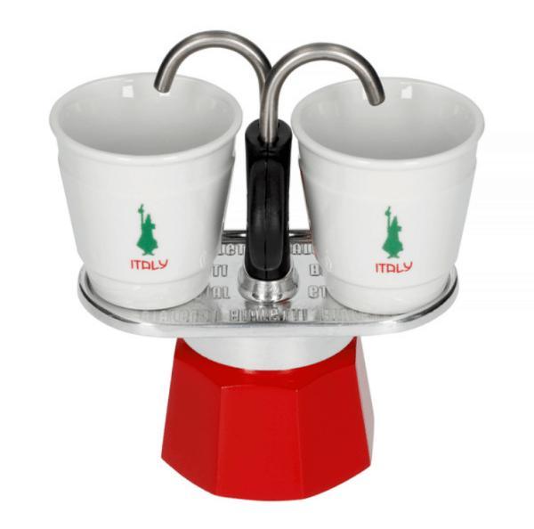 Bialetti Mini Express 2 kops Italy Edition + 2 kopper
