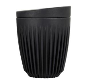 HuskeeCup Kop Mørkegrå 235 ML (1 Stk) inkl. låg - Produceret af kaffebær