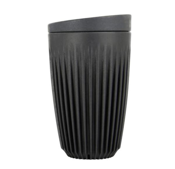 HuskeeCup Kop Mørkegrå 355 ML (1 Stk) inkl. låg - Produceret af kaffebær