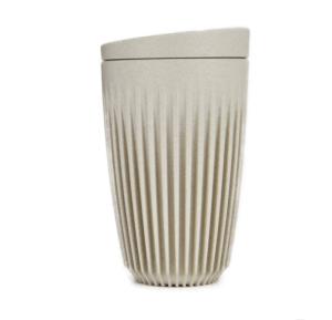 HuskeeCup Kop Natur 355 ML (1 Stk) inkl. låg - Produceret af kaffebær