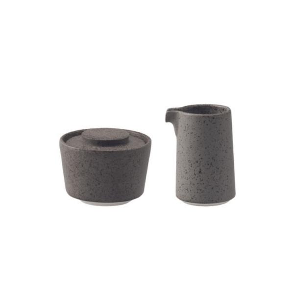 Loveramics Stone - Sukker + Fløde/Mælke kande 125 ml - Granite