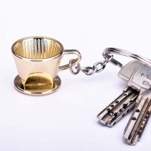 Nøglering - Kaffefilter Guld