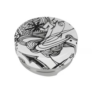 Motta Hvid/Sort Distributor/Leveler/kaffefordeler puck 58,5mm (Passer til 58 mm portafilter)