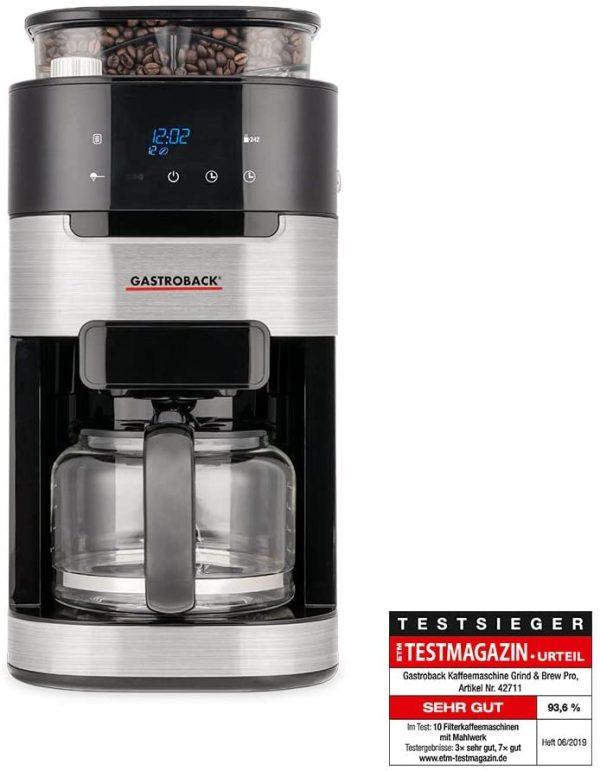 Gastroback Filterkaffemaskine med indbygget kværn 42711