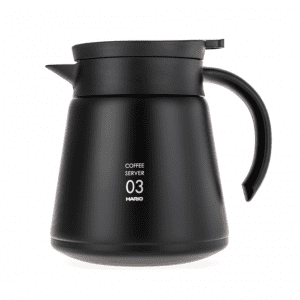 Hario V60-03 Termo server - Rustfrit stål, Sort - 600 ml - VHS-80-B