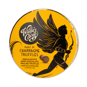Willie's Cacao - Praline Truffles Milk Chocolate with Marc De Champagne 110g