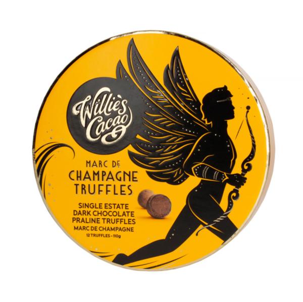 Willie's Cacao - Praline Truffles Milk Chocolate with Marc De Champagne 110g