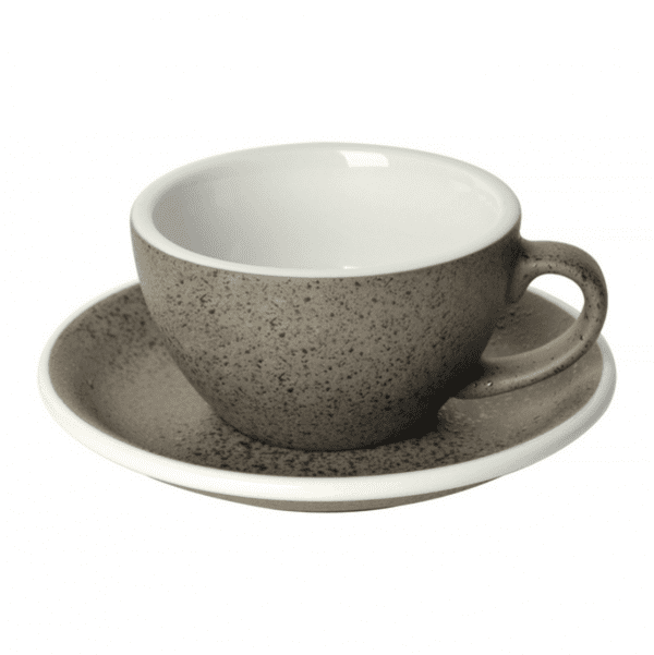 Loveramics Egg - Cappuccino 200 ml Kop og underkop Granitgrå