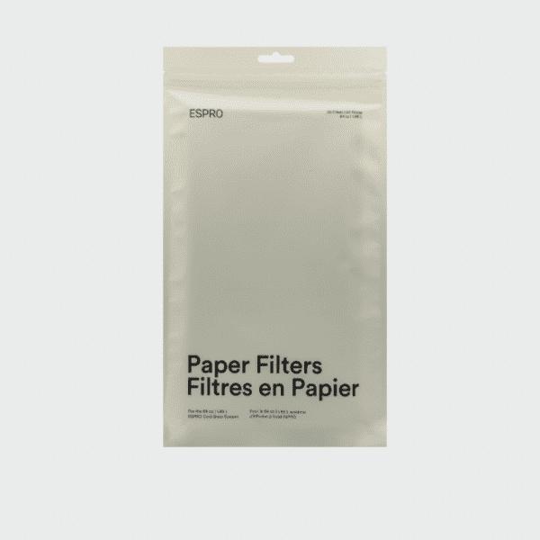 ESPRO CB1 PAPIRFILTER - Passer til ESPRO Cold Brew Kaffe Kit