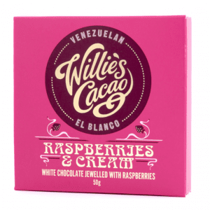 Willie's Cacao - Raspberries and Cream White Chocolate 50g