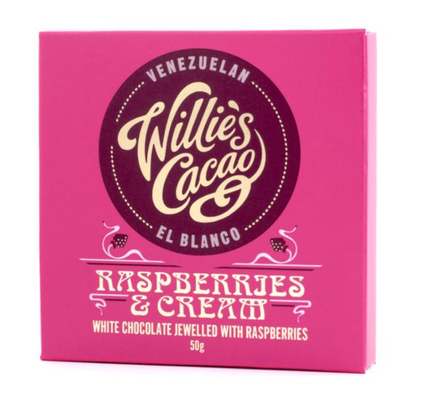 Willie's Cacao - Raspberries and Cream White Chocolate 50g