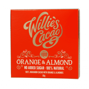 Willie's Cacao - Uden Sukker - Orange and Almond 50g