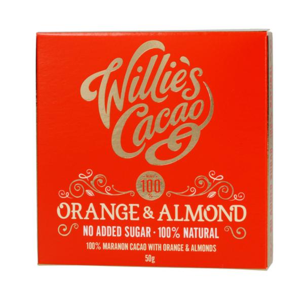 Willie's Cacao - Uden Sukker - Orange and Almond 50g