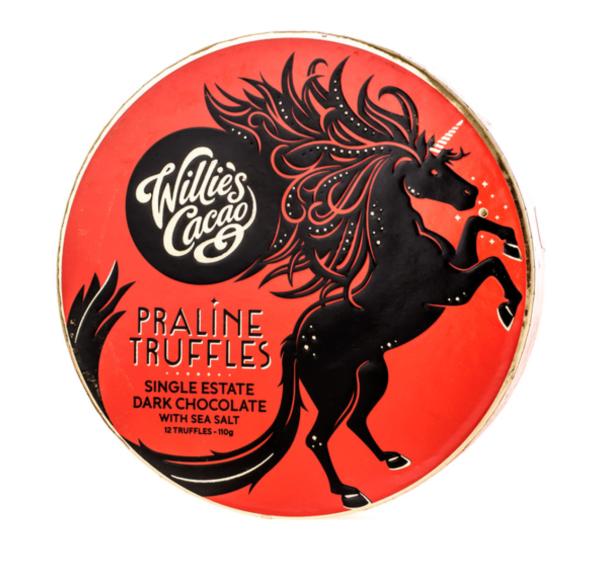 Willie's Cacao - Praline Truffles Dark Chocolate with Sea Salt 110g