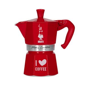 Bialetti Moka Express Espressokande - Rød 3 koppers - Moka Lovers Collection
