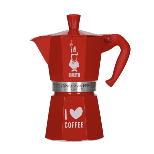 Bialetti Moka Express Espressokande - Rød 6 koppers - Moka Lovers Collection