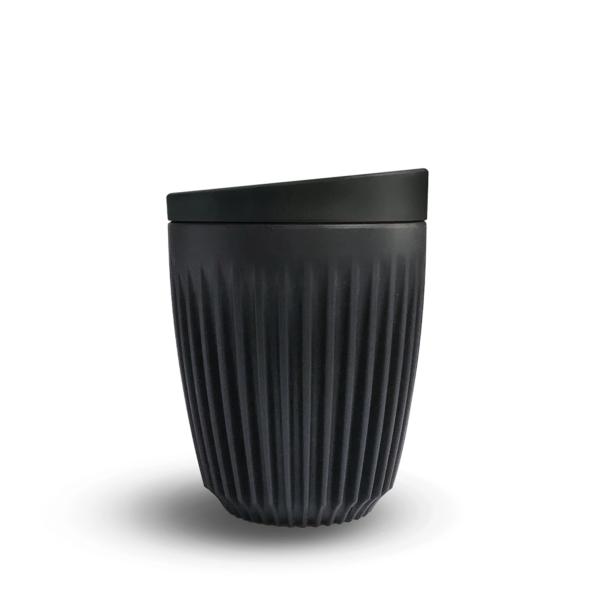 HuskeeCup Kop Mørkegrå 175 ML (1 Stk) inkl. låg - Produceret af kaffebær